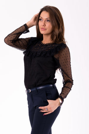 BLOUSE -BLACK