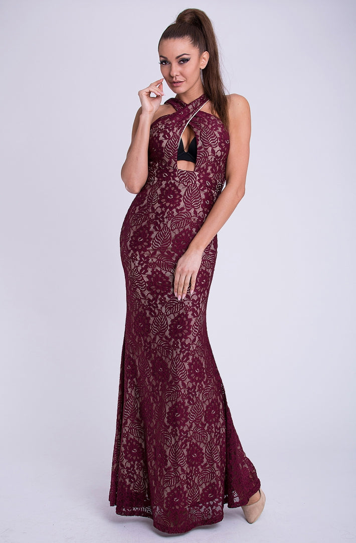 DRESS - Maroon