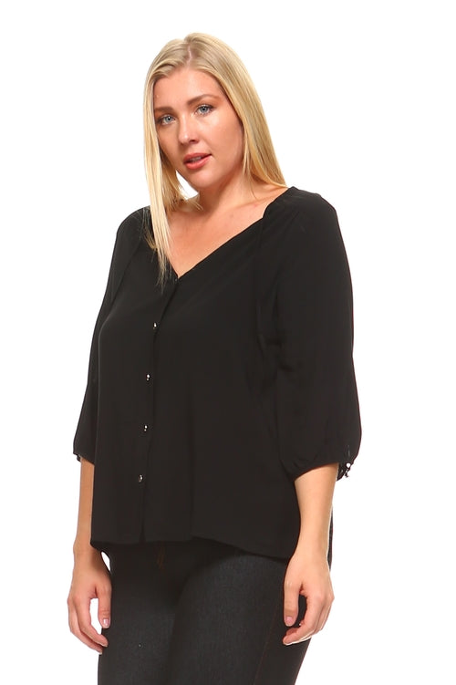 LS-3/4 Sleeve Blouse.