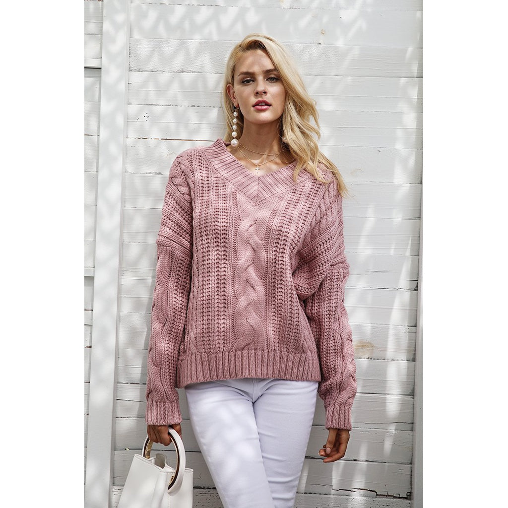Long Sleeve Soft Pullover Sweater