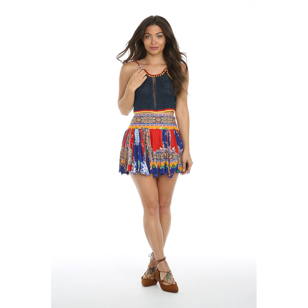FIESTA DE PLAYA RUFFLE MINI SKIRT