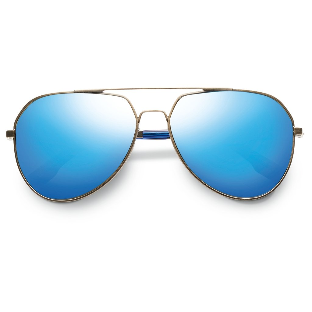 Blake: Antique Brass - Matte Midway Blue / Flash Pacific Blue