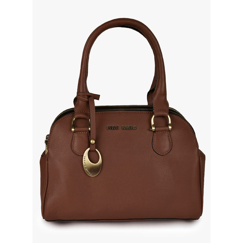 Leather HandBag (Tan)