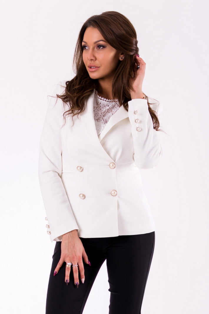 Jacket- WHITE two buttons.