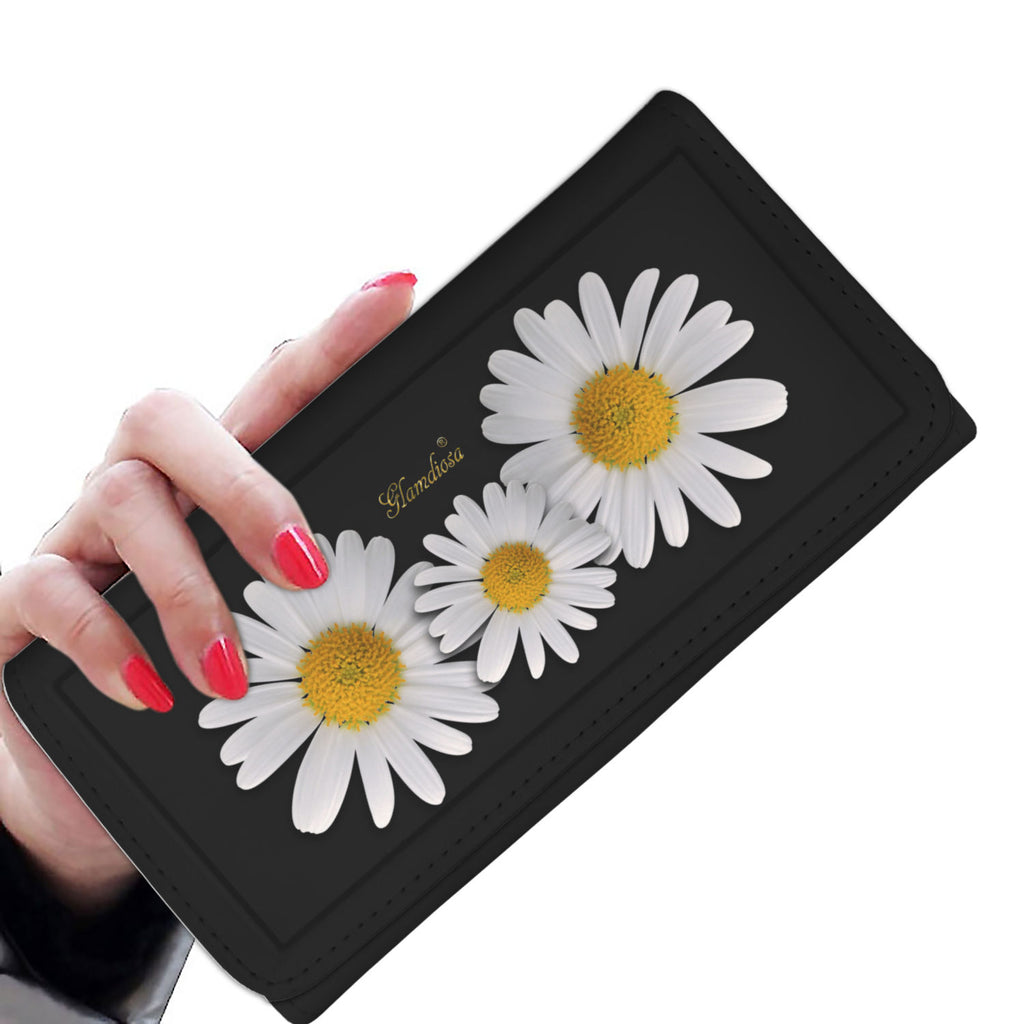 Wallet Daisys Black