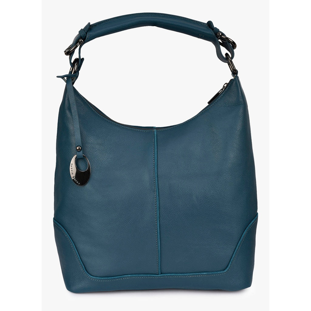 Leather Hobo Bag (Teal)