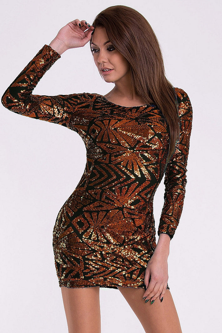 DRESS - COPPER