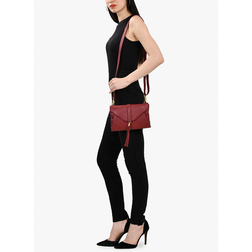 Leather Crossbody Bag (Red)