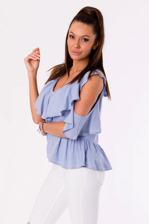 BLOUSE -BLUE