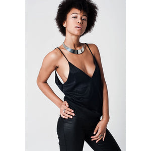Black Lurex Cami Top