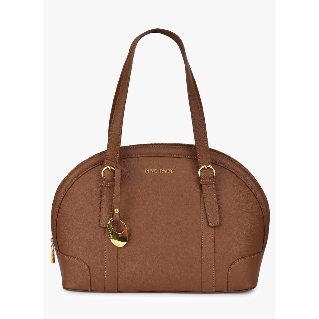 Leather Shoulder Bag (Tan)