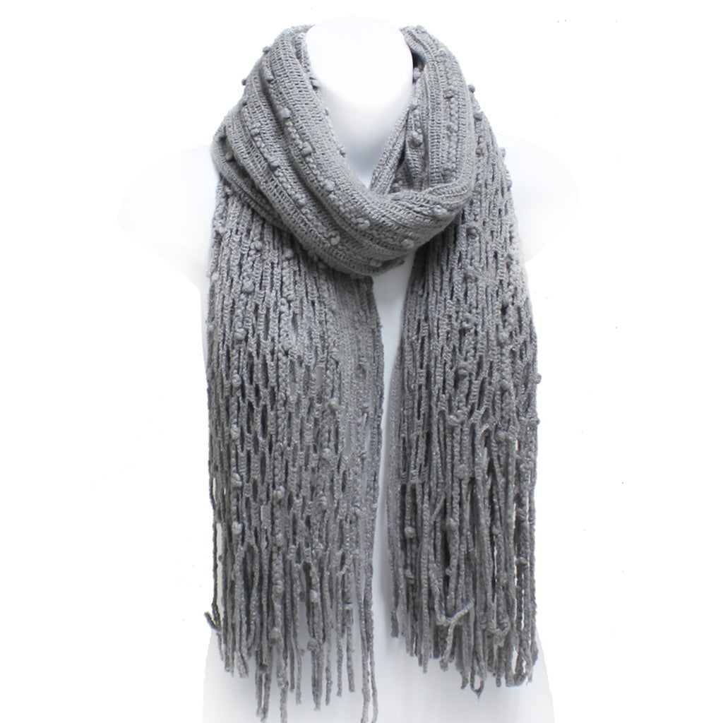 Gray Winter Scarf