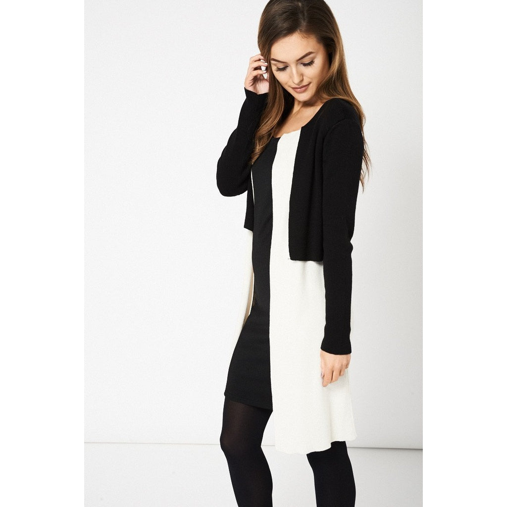 Black and Cream Cardigan