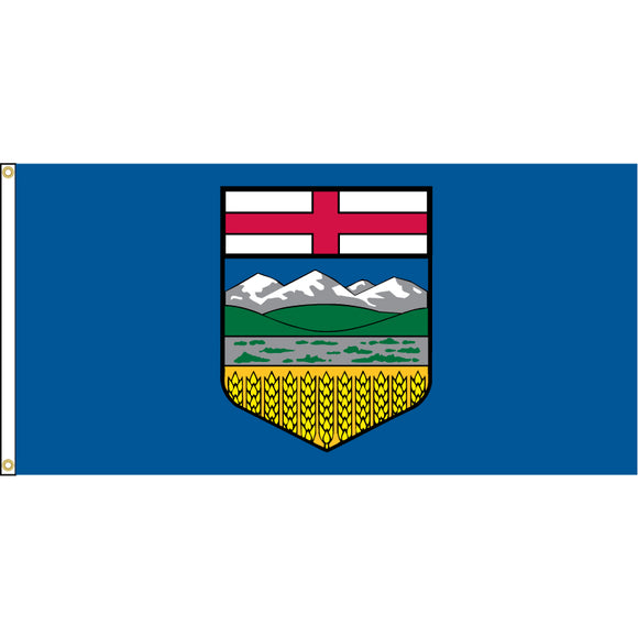 Alberta Flag with Grommets