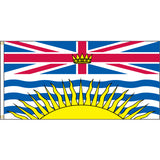 British Columbia flag with two brass grommets
