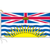 British Columbia flag with rope and toggle