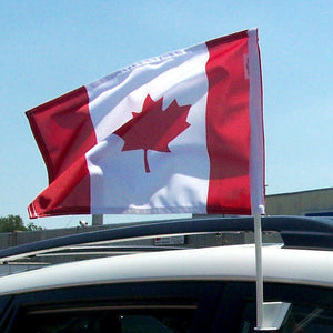 Canada Car Window flag on a car.