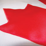 Close up on an applique Canada flag.