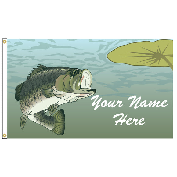 Fish illustration on a flag that you can add your name too.