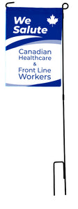 We Salute Healthcare/Frontline Workers Garden Flag