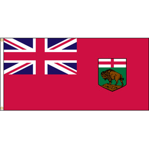 Manitoba flag with two brass grommets