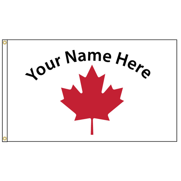 Simple red maple leaf flag that you can add your name too.