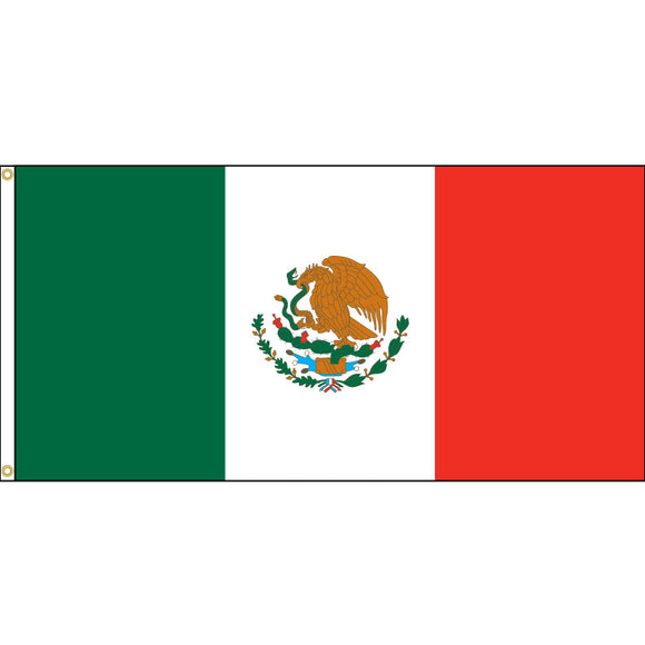 Mexican flag with grommets
