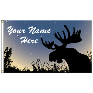 Moose Flag - Personalized