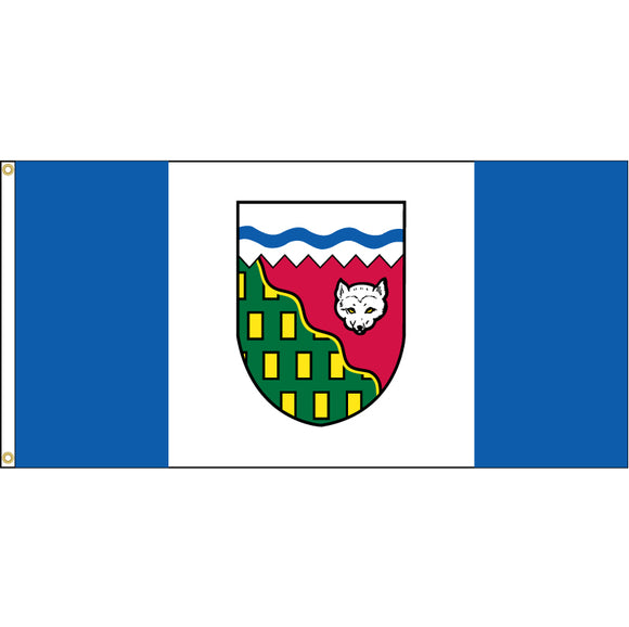 Northwest Territories Flag with grommets.