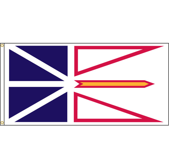 Newfoundland flag with two brass grommets.