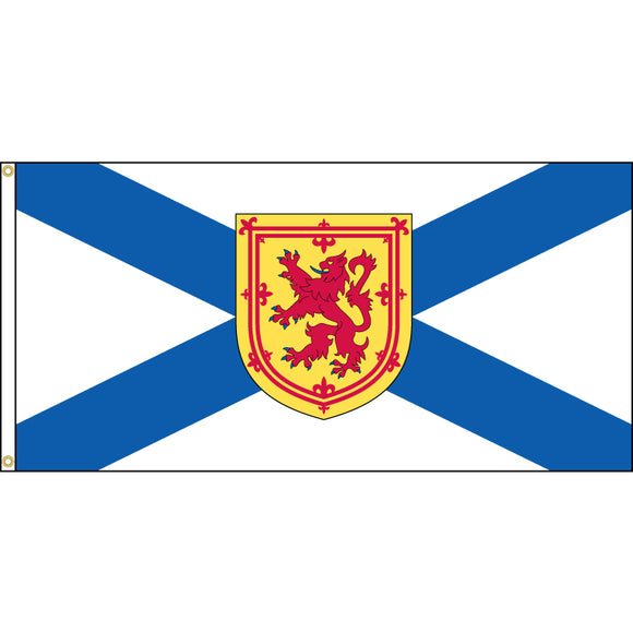 Nova Scotia flag with grommets.