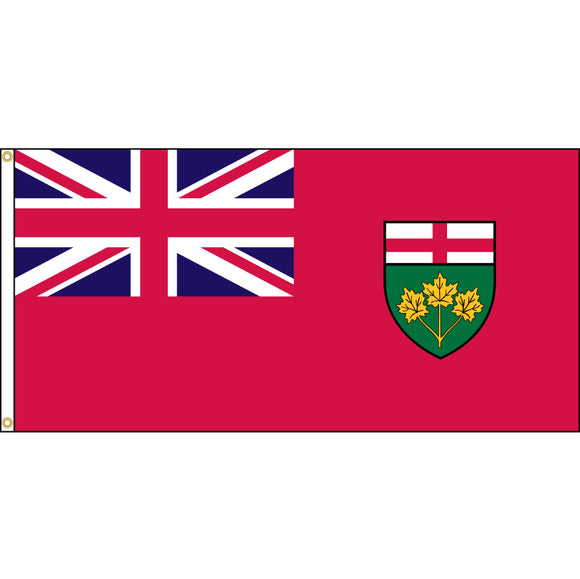 Ontario flag with grommets.