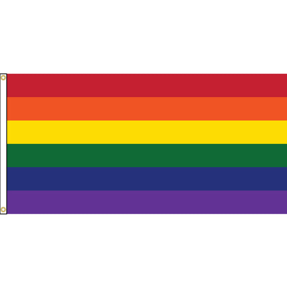 Pride Flag with header and grommets.