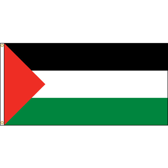 Palestine Flag with header and grommets.