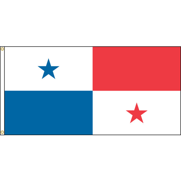 Panama Flag with header and grommets.