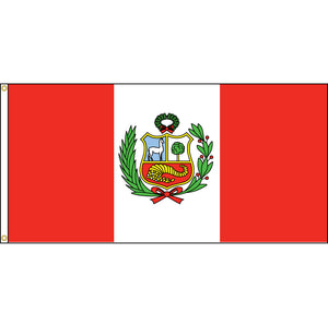 Peru Flag with header and grommets.