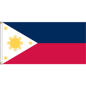 Philippines Flag with header and grommets.