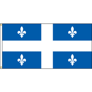 Quebec flag with grommets.