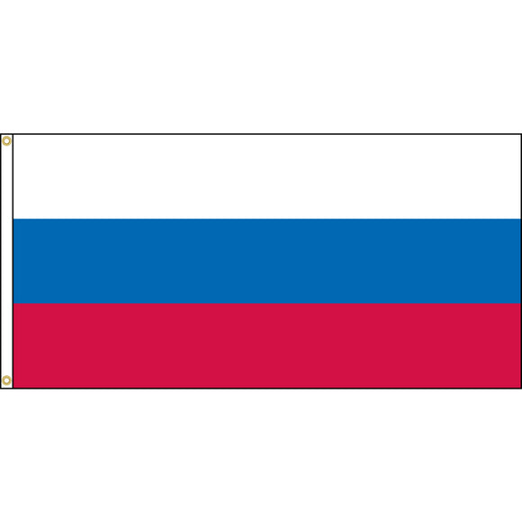 Russia Flag with header and grommets.