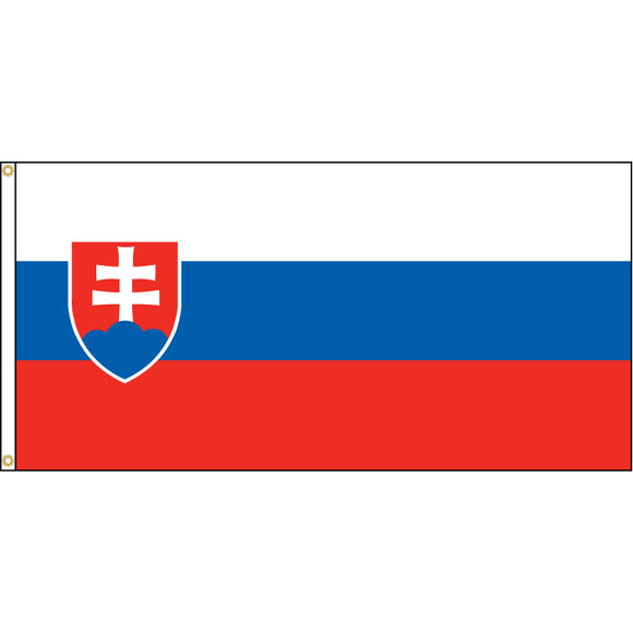 Slovakia Flag with header and grommets.