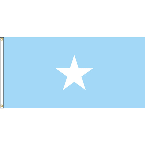 Somalia Flag with header and grommets.