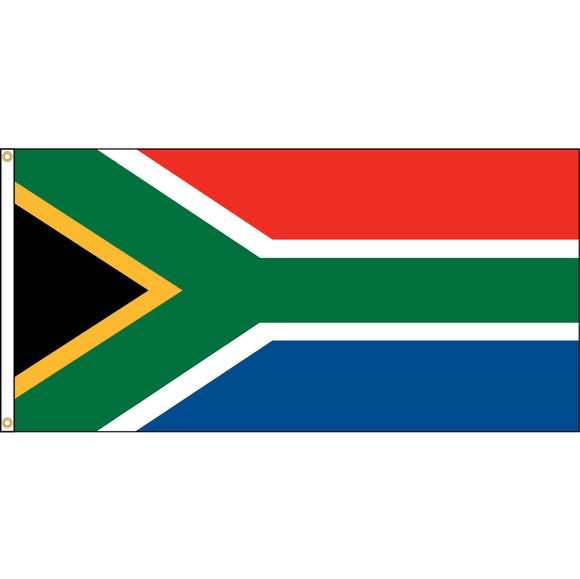 South Africa Flag with header and grommets.