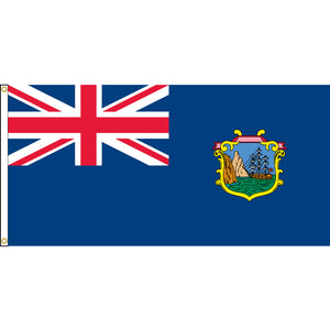 St. Helena Flag with header and grommets.
