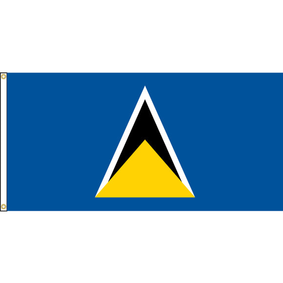St. Lucia Flag with header and grommets.