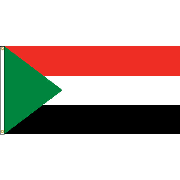 Sudan Flag with header and grommets.