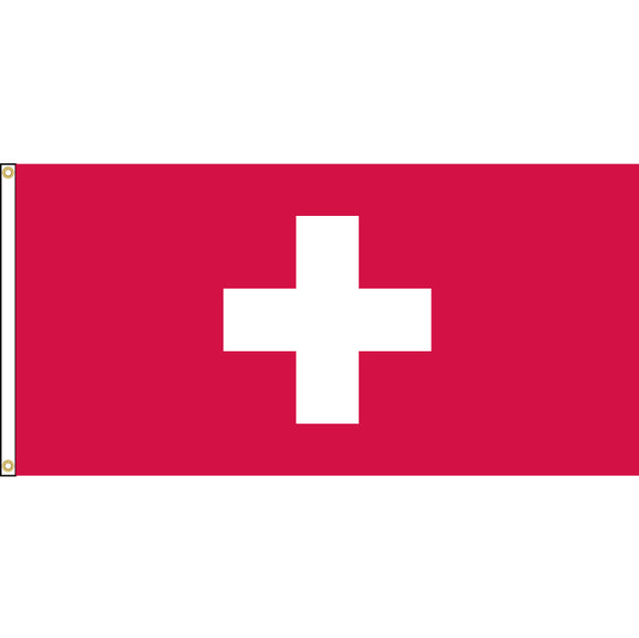 Switzerland Flag with header and grommets.