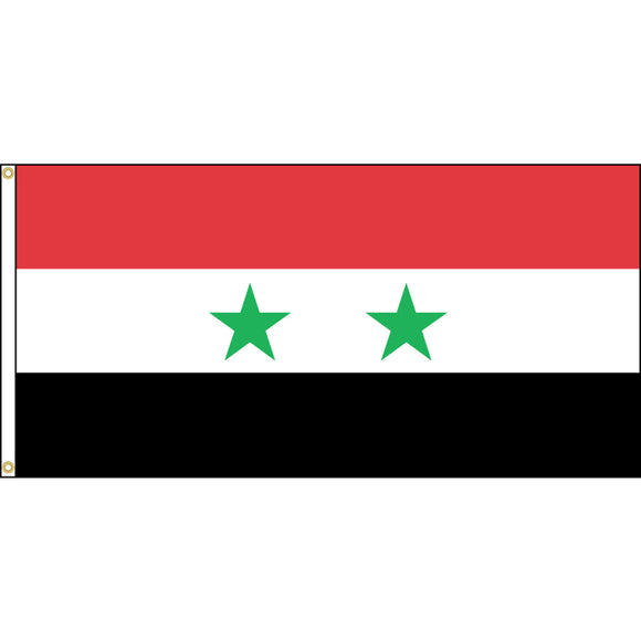 Syria Flag with header and grommets.