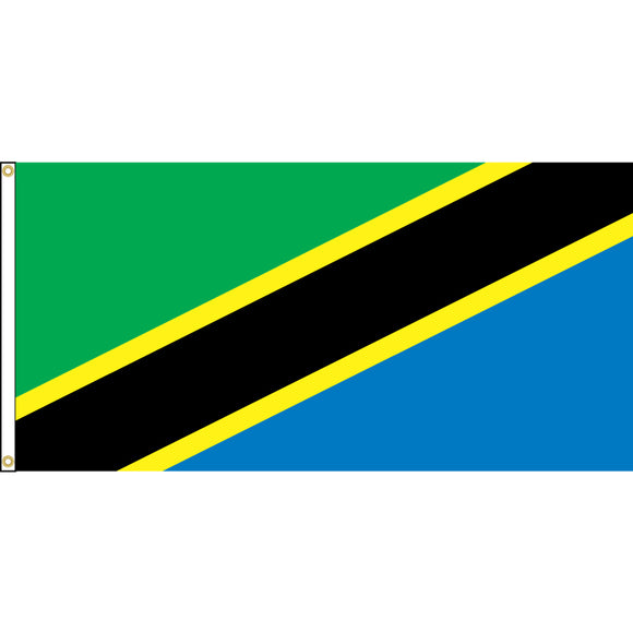 Tanzania Flag with header and grommets.