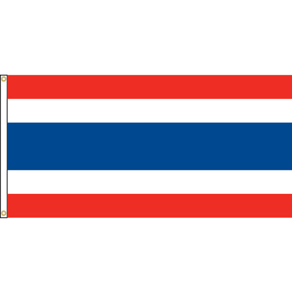 Thailand Flag with header and grommets.