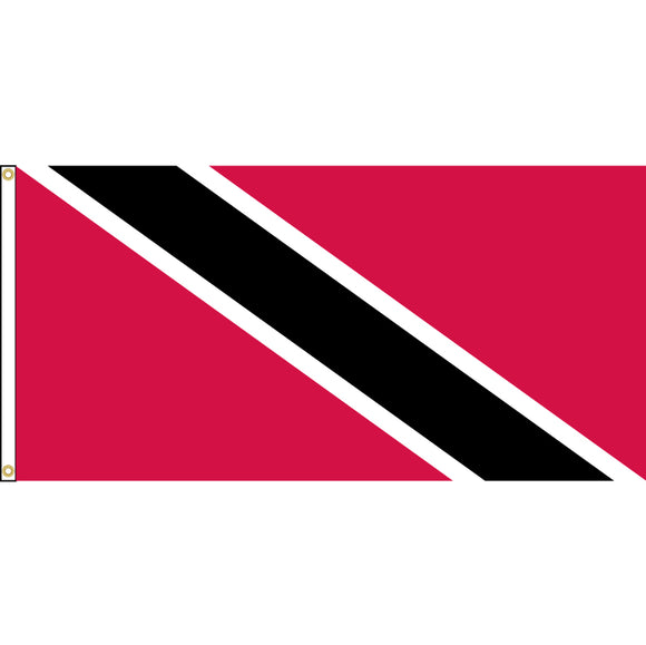 Trinidad and Tobago Flag with header and grommets.
